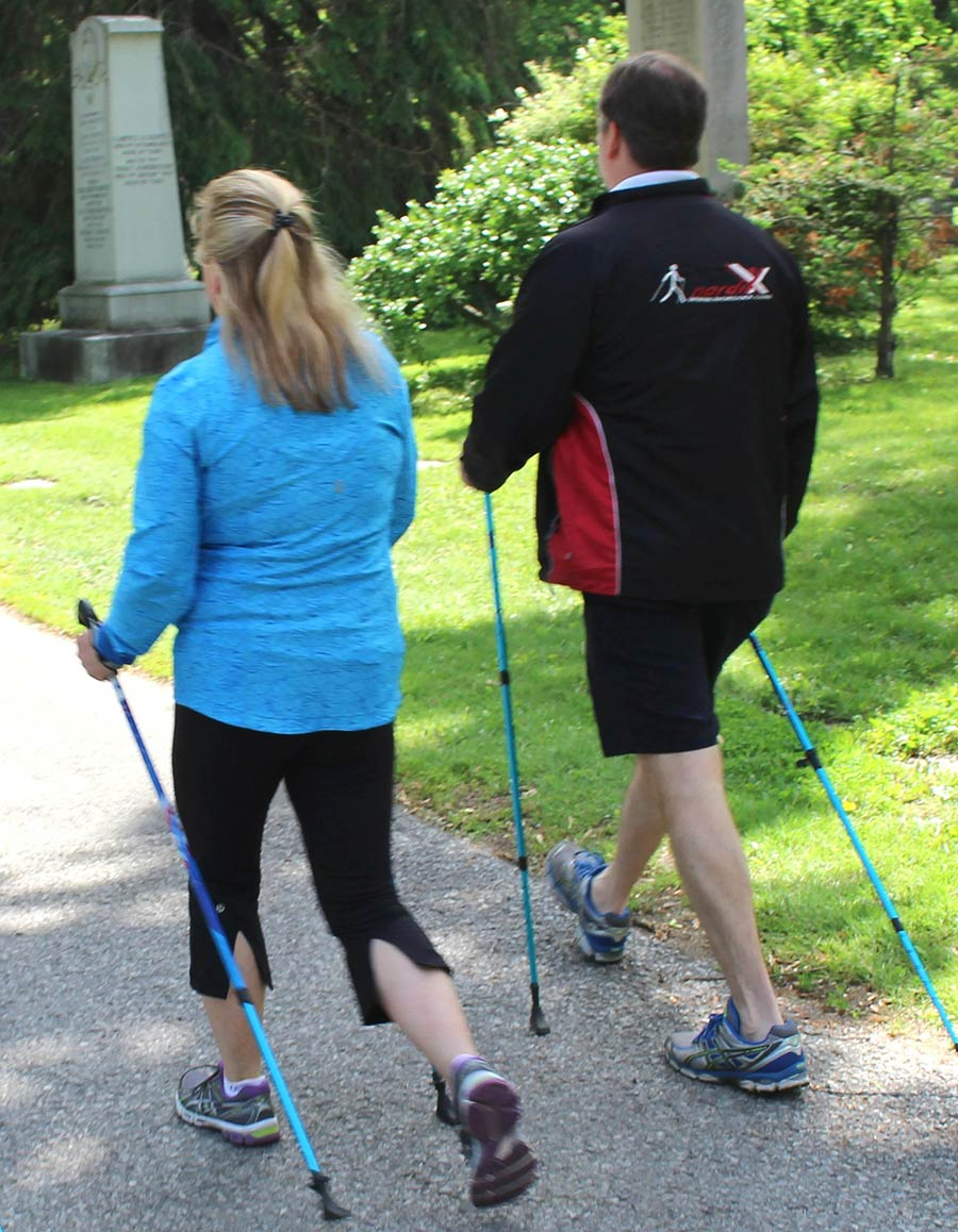 InsideOut Physiotherapy nordic pole walking class 2 person