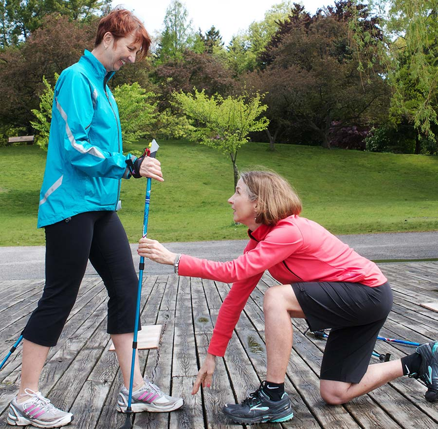 InsideOut Physiotherapy nordic pole walking class instructing