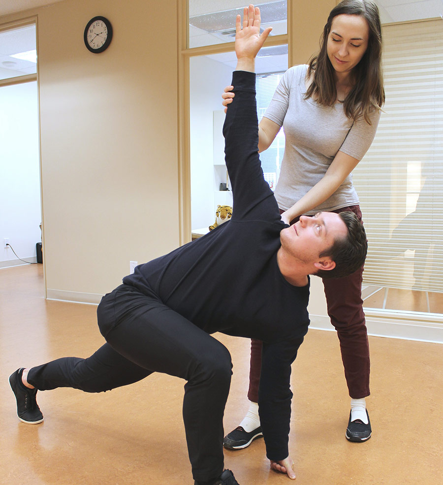 Kinesiology Rehab Personal Training man stretching